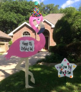 Birthday Flamingo Lawn Sign